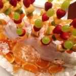 Composta di frutta fresca con cristalli di zucchero alle nocciole 2