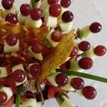 Composta di frutta fresca con cristalli di zucchero e calle 4