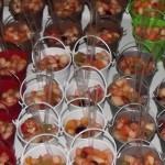 Cestini di macedonia fresca dal giardino